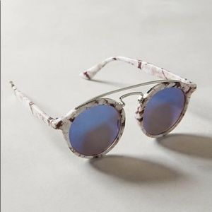 Anthropologie Everest Marbled Aviator Sunglasses